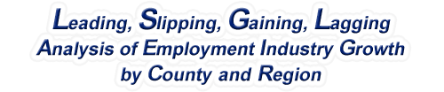 South Dakota - LSGL Analysis of Employment Industry Growth by Selected Region, 1969-2016